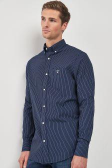 GANT Indigo Pinstripe Poplin Regular Shirt