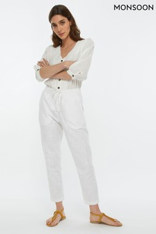 Monsoon Ladies White Sadie Trouser