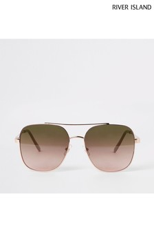 River Island Torte To Pink Navigator Sunglasses
