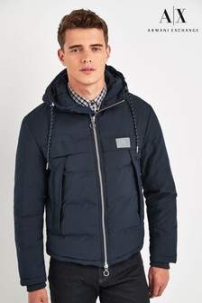 Armani Exchange Navy Reflective Jacket
