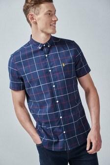 Windowpane Check Slim Fit Shirt
