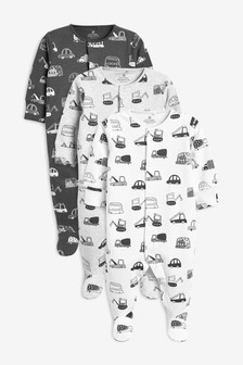 3 Pack Transport Sleepsuits (0 חודשים-2 שנים)