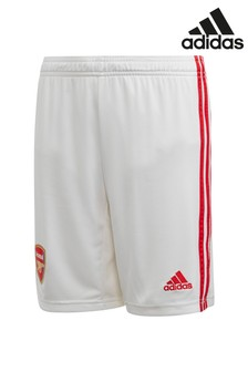 adidas White Arsenal FC 2019/2020 Home Short Youth