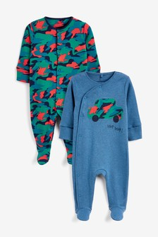 2 Pack Camouflage Car Sleepsuits (0mths-2yrs)