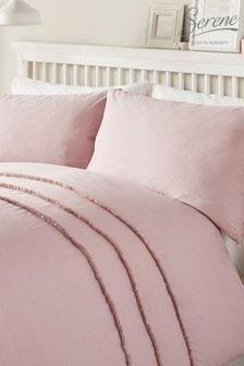 Tassels Duvet Cover And Pillowcase Set by Serene