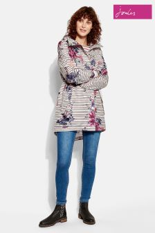 Joules Stripe Floral Packaway Golightly Jacket