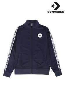 Converse Boys Navy Wordmark Taping Tricot Jacket