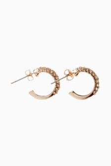 Sparkle Detail Hug Hoop Earrings