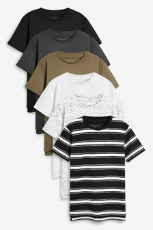 6abc52853de Short Sleeve T-Shirts Six Pack (3-16yrs)