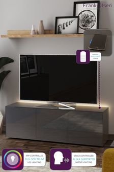 Frank Olsen Smart LED Grey Large TV Cabinet