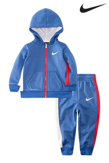Nike Infant Blue Zip Through Set