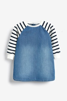Raglan Breton Stripe Dress (3mths-7yrs)