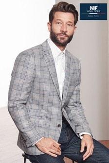 Signature Italian Fabric Check Slim Fit Nova Fides Blazer