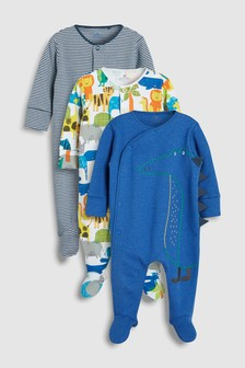 Crocodile Character Sleepsuits Three Pack (0mths-2yrs)