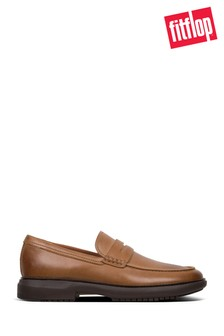 FitFlop™ Brown Dexter Penny Leather Loafer