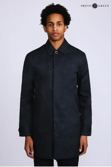 Pretty Green Navy Bonded Mac