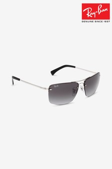 Ray-Ban® Silver Rectangle RB3607 Sunglasses