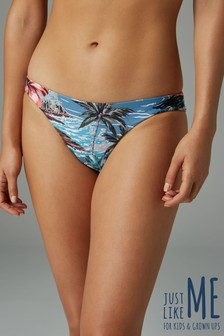 Matching Family Womens Hawaiian Print Reversible High Leg Bikini Briefs