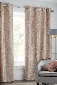 Marble Jacquard Eyelet Curtains