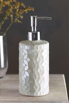 Dispensador de jabón con diseño mosaico