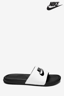 Nike White/Black JDI. Benassi