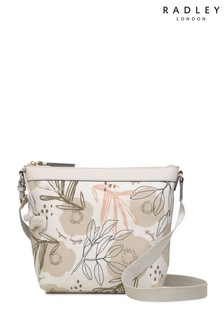 Radley London White Desert Floral Medium Cross Body Bag