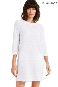 Phase Eight Cream Reina Ripple Dress