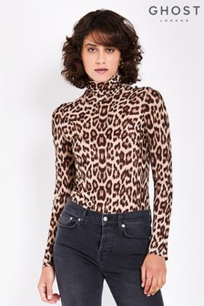 Ghost London Animal Print Marni Top