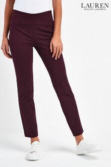 Lauren Ralph Lauren® Burgundy Keslina Skinny Trousers