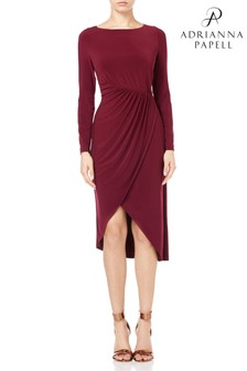 Adrianna Papell Red Matte Sheath Dress