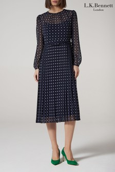 L.K.Bennett Blue Avery Dress