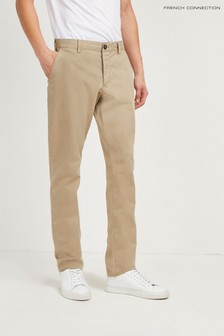 French Connection Brown Machine Stretch Trouser
