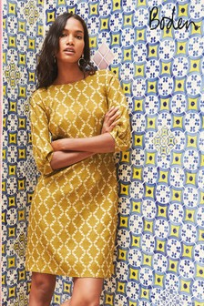 Boden Yellow Kate Linen Dress