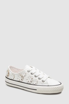 Flower Lace-Up Trainers (Older)