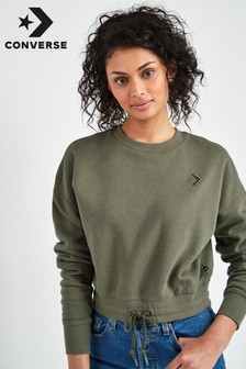 Converse Cropped Crew Sweat Top