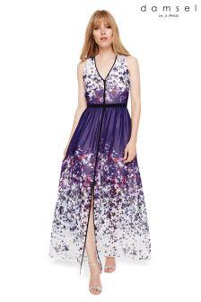 Damsel In A Dress Purple Catalina Printed Maxi Dress