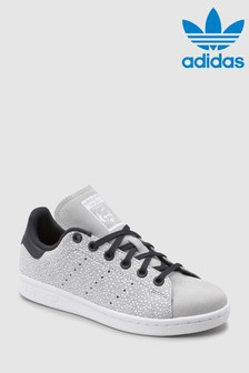adidas Originals Stan Smith für Jugendliche mit Punkten, grau