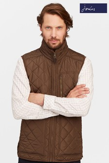 Joules Brown Fleece Lined Quilted Gillet