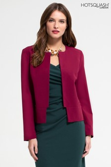 HotSquash Burgundy Collarless Jacket