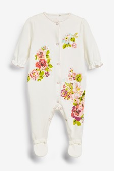Floral Sleepsuit (0mths-2yrs)