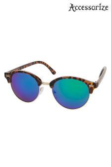 Accessorize Animal Rita Revo Half Frame Sunglasses