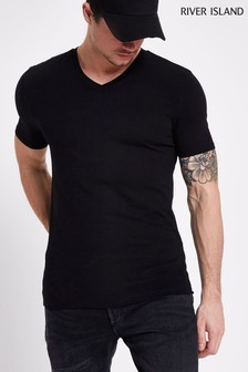 River Island Muscle V-Neck Tee