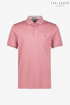 Ted Baker Pink Short Sleeve Poloshirt