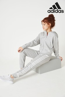 adidas Grey Must Have 3 Stripe Joggers