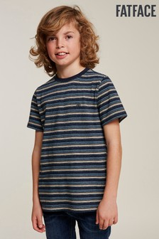 FatFace Blue Multi Stripe Tee
