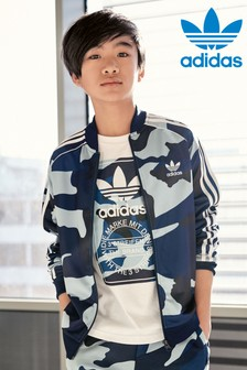 Veste adidas Originals bleue motif camouflage