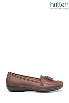 Hotter Alice Wide Fit Slip-On Loafer Moccasin Shoes