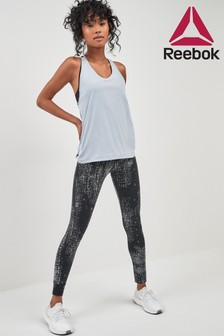 Reebok Black Print Lux Tight