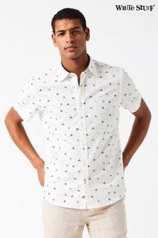 White Stuff Natural Horizon Print Shirt