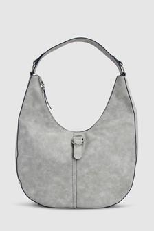 Повседневная сумка-хобо с пряжкой